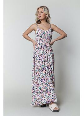 Sophie Aquarel Smock Maxi Dress Multicolor