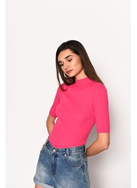 Stretch top fuchsia
