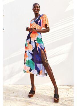 Spliced Artist Clover Dress