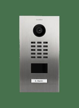 D2101V, Videofoon inbouw, RVS, 1 beldrukknop