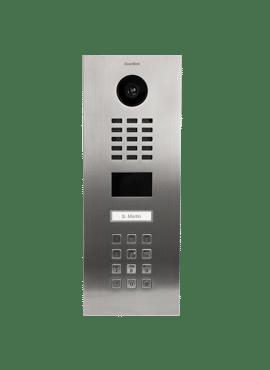 D2101KV, Videofoon inbouw, RVS, 1 beldrukknop, keypad