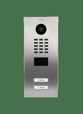D2102V, Videofoon inbouw, RVS, 2 beldrukknoppen