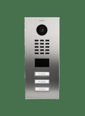 D2103V, Videofoon inbouw, RVS, 3 beldrukknoppen