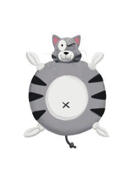 Woody Knuffeldoekje Kat