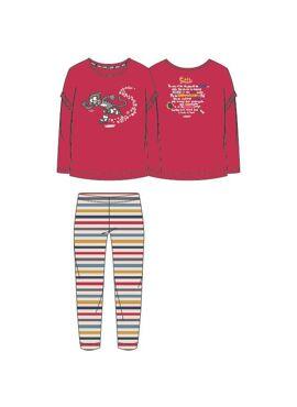 Woody Meisjes-Dames Pyjama Rood