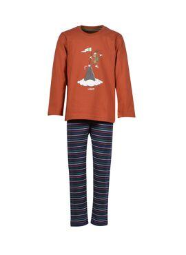 Woody Jongens-Heren Pyjama Roest