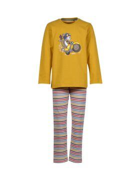 Woody Jongens-Heren Pyjama Currygeel