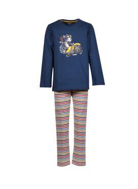 Woody Jongens-Heren Pyjama Petrolblauw
