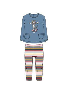 Woody Meisjes Pyjama Blauw