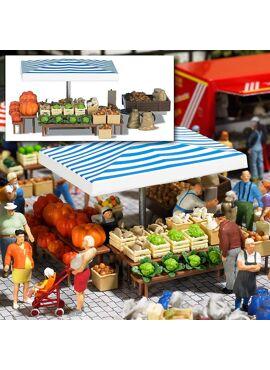 BUSCH 1070 / Marktstand Gemüse H0
