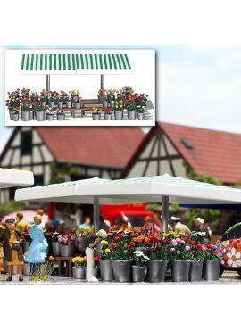 BUSCH 1072 / Marktstand Blumen H0