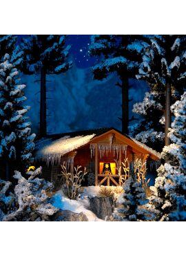 BUSCH 1085 / Winterhütte mit Beleuchtung
