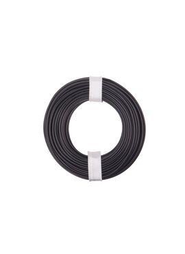 zwarte draad 0.25 mm² x 10 m