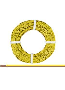 dubbele draad geel/bruin 2 x 0.25 mm² / 50m