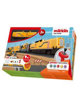 Marklin 29341 / Bouwplaatstrein met bouwplaatsgeluiden en seinhoorn.