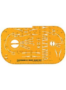 Fleischmann 9921 / Railsjabloon voor PROFI-sporen HO