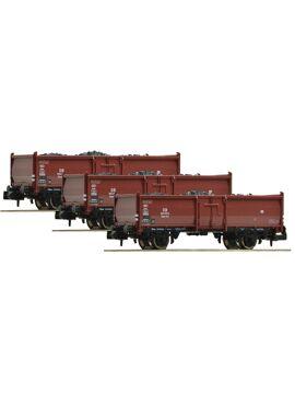 F820530 / set van 3 kolenwagens