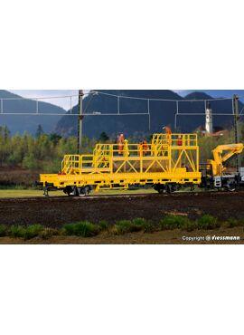 Kibri 26262 / platte wagen met werkplatform