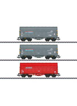 MARKLIN 47224  / Set schuifhuifwagens Nacco