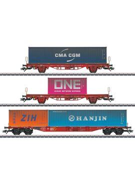 MARKLIN 47580 /  Set containerwagens Lgs 580