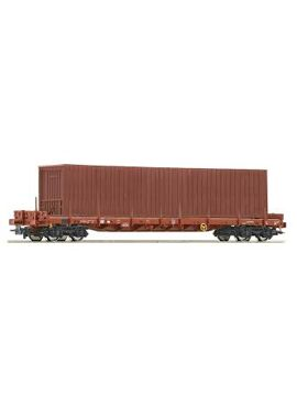 ROCO 76778 / Rongenwagen +Container / Rs SNCB