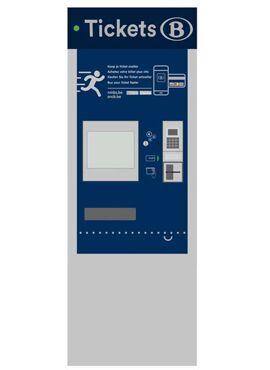 RIETZE 70305 / Ticketautomaat NMBS/SNCB België, 3 stuks