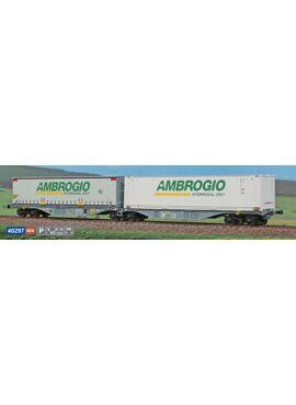 ACME 40297 / Containerdraagwagen Sggmrss '90 van Ambrogio met Ambrogio-containers