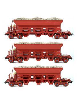 Van Biervliet 84010 / 3 Tremie balast wagens  NMBS  Infrabel