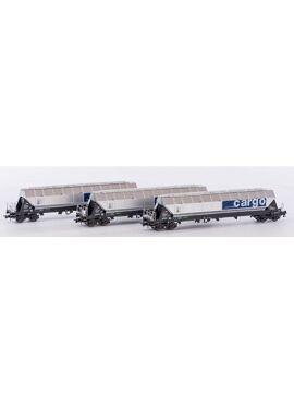 B-Models 92103 / 3 silowagens type Tagnpps van SBB-cargo