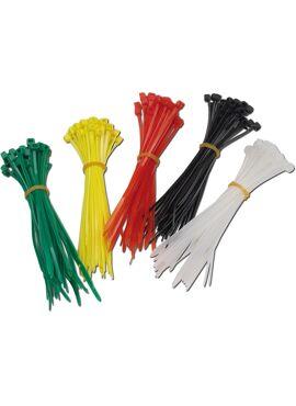 Kabelbinders 200 stuks 100 mm (5 kleuren)