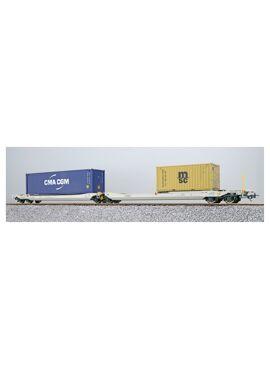 ESU 36545 / Containerdraagwagen Sdggmrs Container CMAU 554986 + MEDU 183613