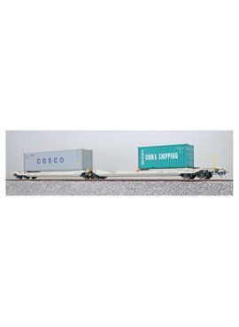 ESU 36546 / Containerdraagwagen Sdggmrs Container CBHU 800007 + CSLU 112507