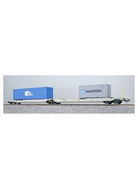 ESU 36547 / Containerdraagwagen Sdggmrs Container TKRU 408408 + MRKU 722908