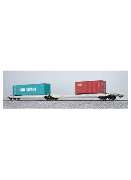 ESU 36548 / Containerdraagwagen Sdggmrs Container CCLU 708767 + CAIU 246696
