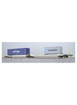ESU 36549 / Containerdraagwagen Sdggmrs Container CMAU 572323 + MRKU 736806