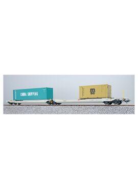 ESU 36550 / Containerdraagwagen Sdggmrs Container CCLU 708800 + MEDU 189926