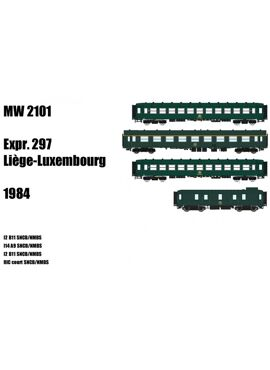 Models World 2101 / Set Luik-Luxembourg Expr. 297 (1984)