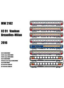 LSM MW 2102 / SET BRUSSEL-MILAAN EC 91 VAUBAN (2016)