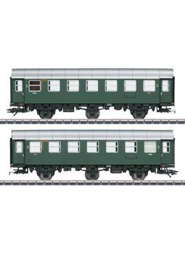 Marklin 43185 / Twee ombouwwagens C3yg 3e klas met ingebouwde binnenverlichting