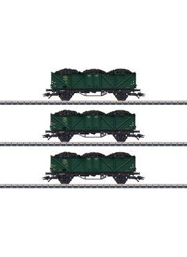 Marklin 46029 / 3 tweeassige hogeboordwagens type Klagenfurt NMBS