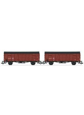 Marklin 46383 / set van 2 gesloten goederenwagens type Glm v/d NMBS