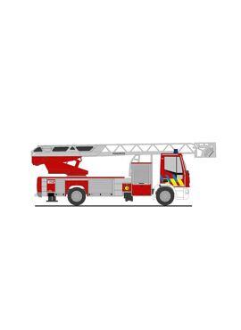 Rietze 68589 / Iveco Magirus ladderwagen v/d brandweer Turnhout (1/87)
