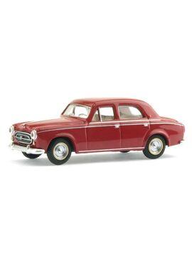 SAI 6204 / Peugeot 403 limousine 1959 robijnrood 1/87