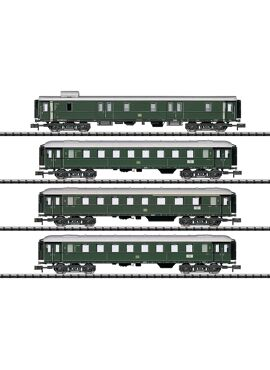 TRIX 15015 / Set van 4 personenrijtuigen tijdperk III DB
