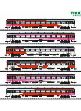 MINITRIX 15389 / IC-SNELTREINRIJTUIGSET ICRM / HST Brussel-Amsterdam