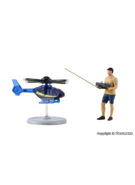Viessmann 1563 / Miniatuurhelikopter met bestuurder (functioneel model)