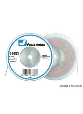 Viessmann 68683 / draad 0,14mm² 25m grijs