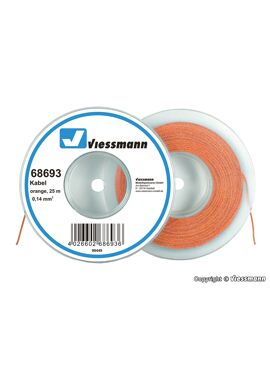 Viessmann 68693 / draad 0,14mm² 25m oranje
