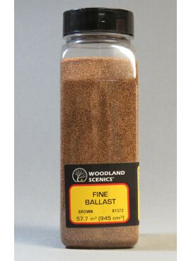 WB1372 /  Brown Fine Ballast Shaker - 57.7 in3 (945 cm3)