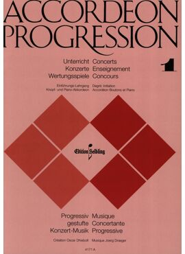 Accordeon Progression Band 1 Einführungs-Lehrgang